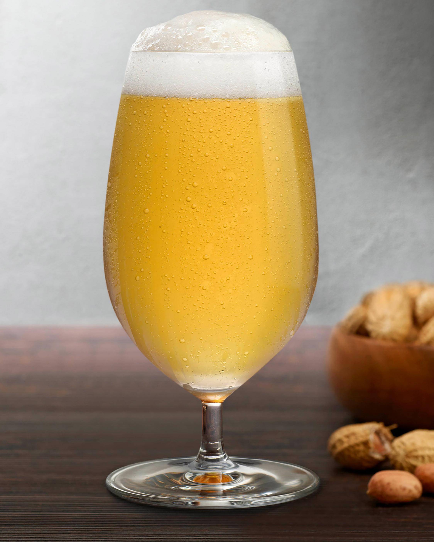 Nude Glass Vintage Beer Glasses Set of 2 2