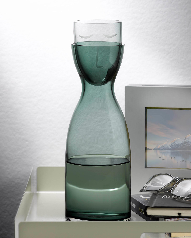 Nude Glass Mr. & Mrs. Night Tall Water Set 1