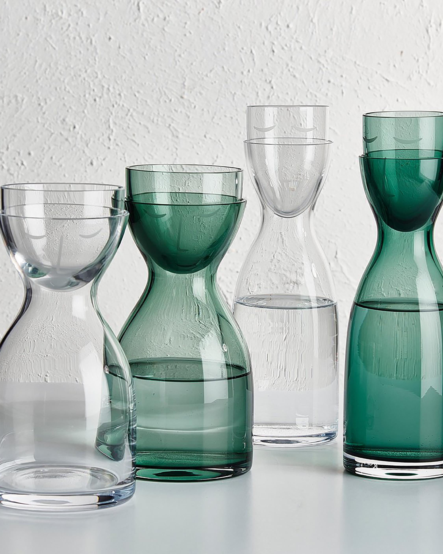 Nude Glass Mr. & Mrs. Night Tall Water Set 4