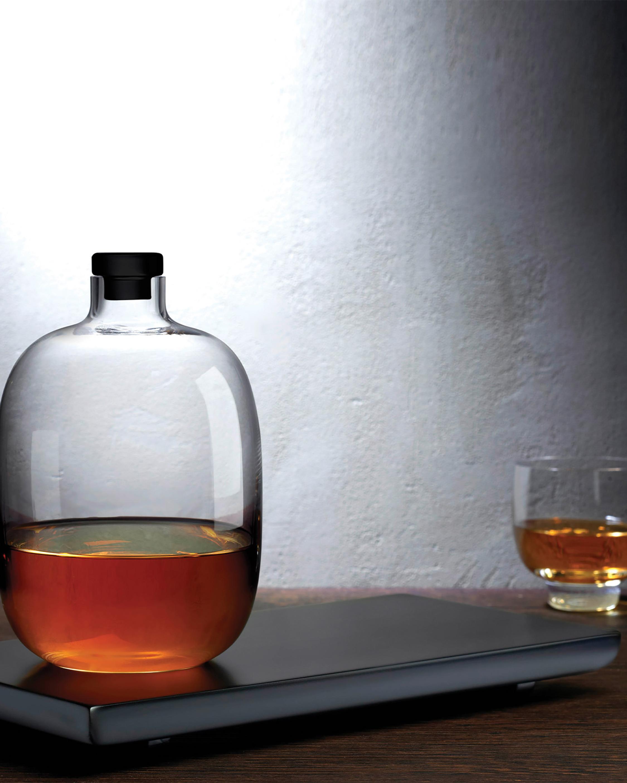 Nude Glass Malt Whiskey Bottle & Tray 1