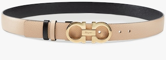 Salvatore Ferragamo Skinny Reversible Gancini Leather Belt 1