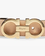 Salvatore Ferragamo Skinny Reversible Gancini Leather Belt 2