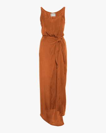 The DK Long Wrap Dress