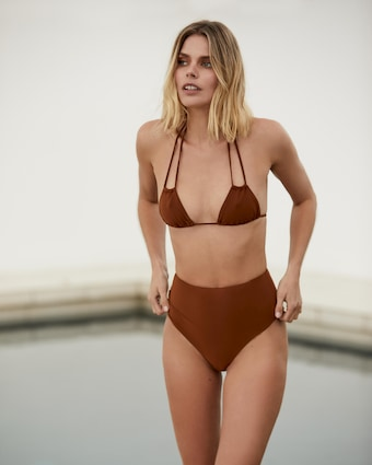 High-Waist Cheeky Bikini Bottom