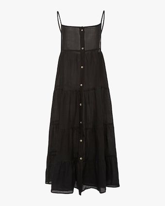 Anemos The Flounce Tiered Button-Down Midi Dress 1