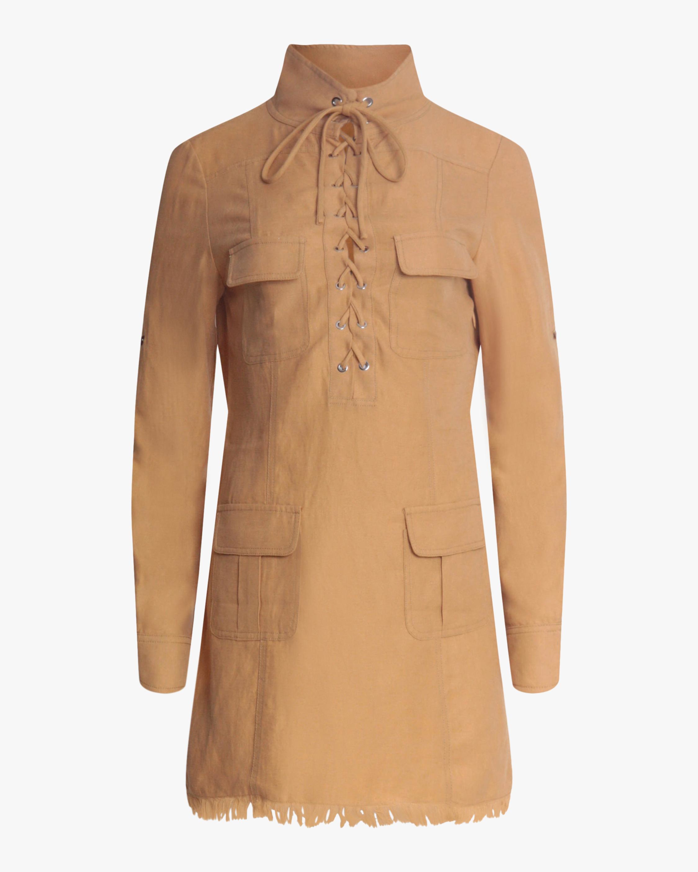 Divine Heritage Safari Lace-Up Mini Dress 1