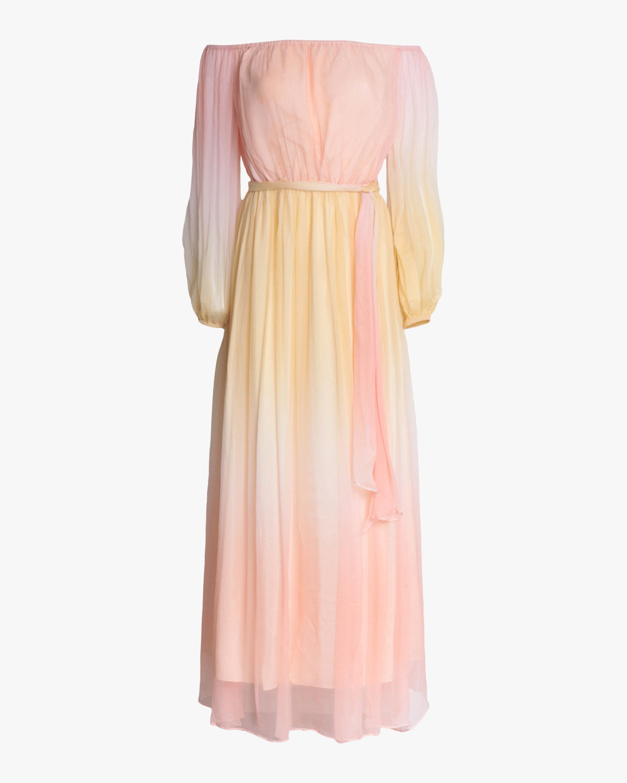 Divine Heritage Off-Shoulder Maxi Dress 0
