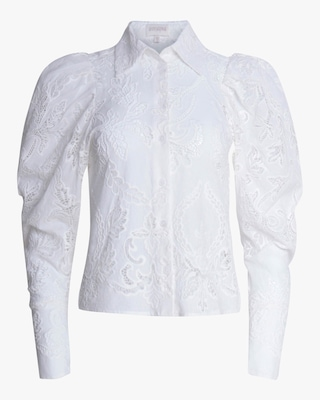 Divine Heritage Pleated Sleeve Button-Up 1