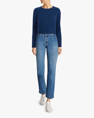 Divine Heritage Cropped Long-Sleeve Sweater 2