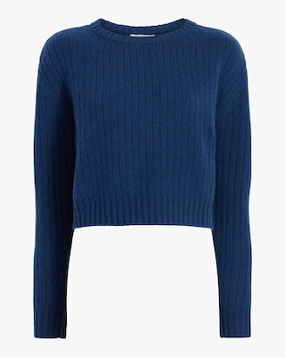 Divine Heritage Cropped Long-Sleeve Sweater 1