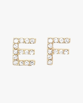 EF Collection Single Initial Stud Earring 1