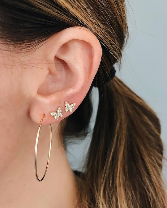 EF Collection The Perfect Hoop Earrings 1