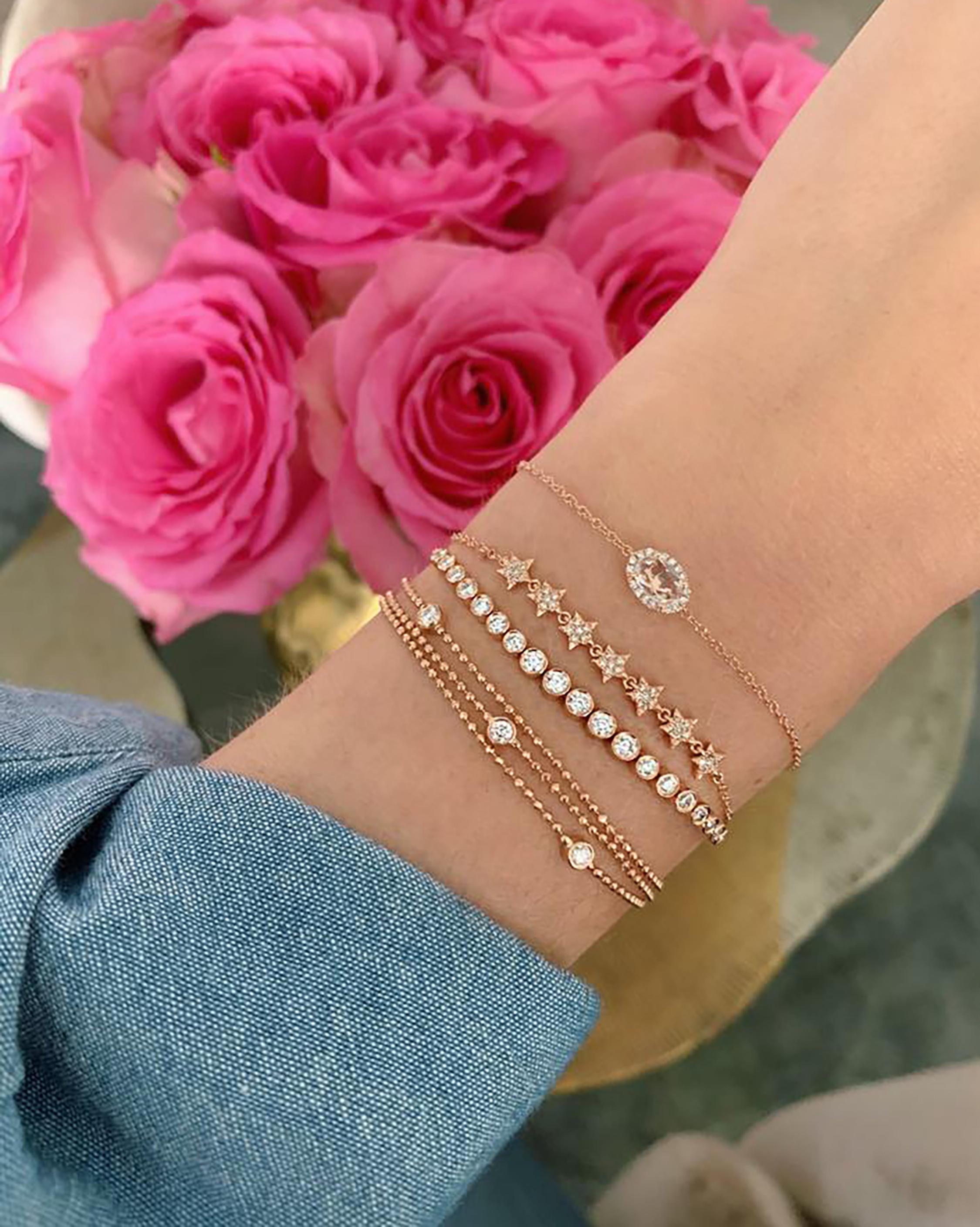 Diamond Bezel Bolo Bracelet