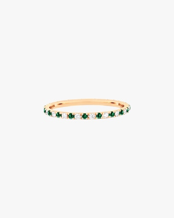 EF Collection Diamond & Tsavorite Dot Eternity Band 1