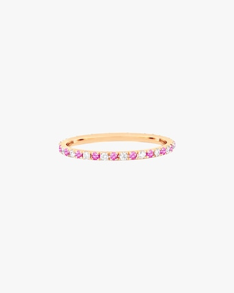 EF Collection Diamond & Pink Sapphire Dot Eternity Band 1