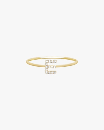 EF Collection Diamond Initial Ring 1