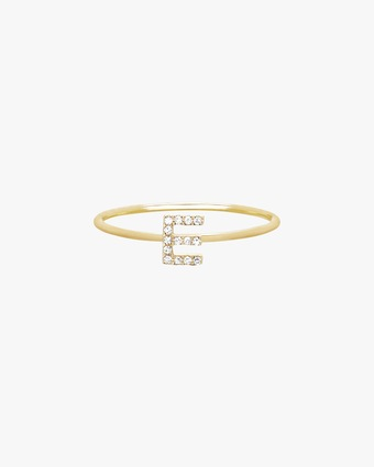 EF Collection Diamond Initial Ring 2
