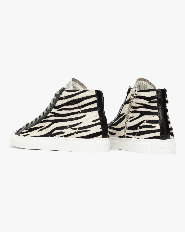 P448 The Star Zebra High-Top Sneaker 4