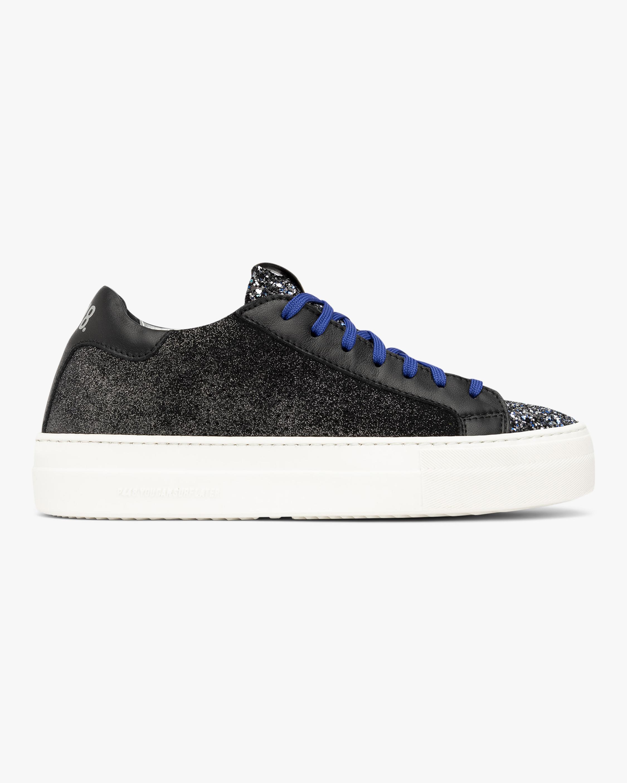 P448 Black Glitter Thea Low-Top Sneaker 1