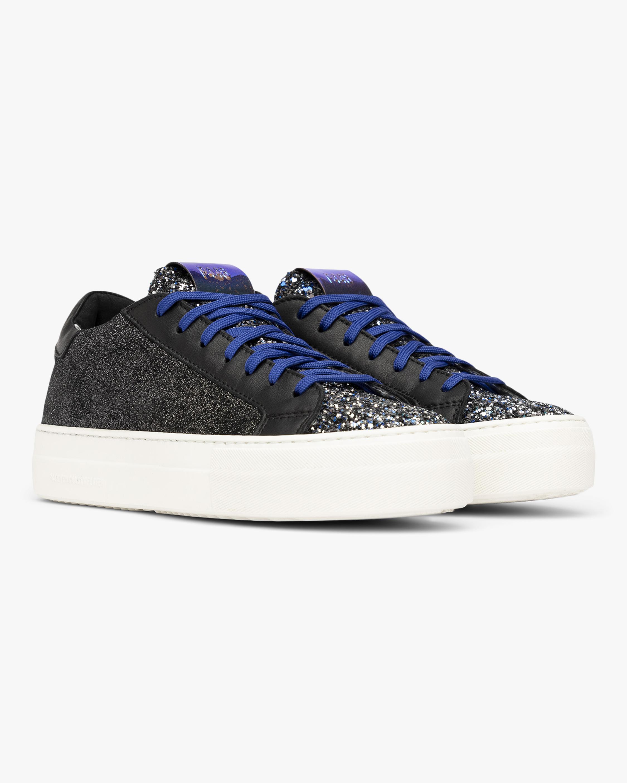 P448 Black Glitter Thea Low-Top Sneaker 2