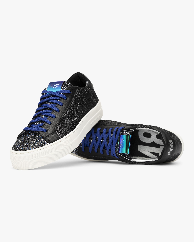 P448 Black Glitter Thea Low-Top Sneaker 3