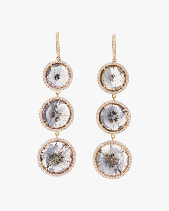 Triple Drop Diamonds Earrings