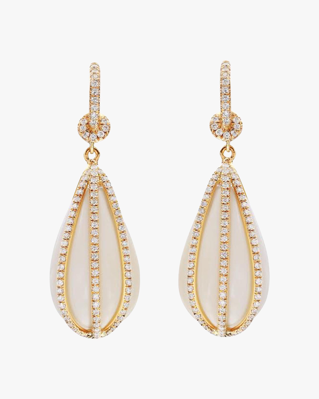 Agate & Diamond Drop Earrings