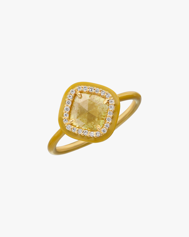 Yellow Slice Diamond Ring