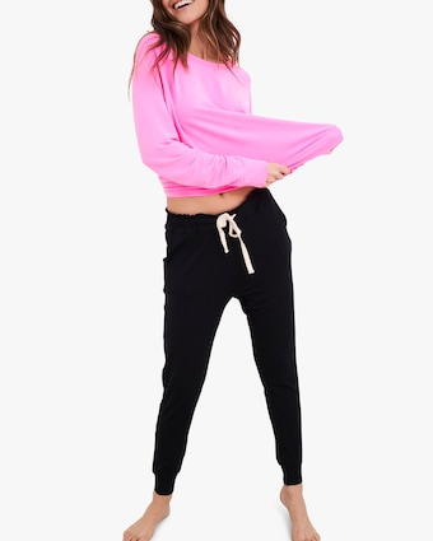 Stripe & Stare Hot Pink Sweatshirt 1