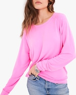 Stripe & Stare Hot Pink Sweatshirt 1