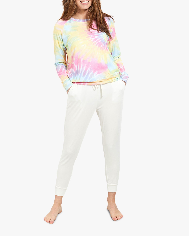 Stripe & Stare White Cloud Lounge Pants 1