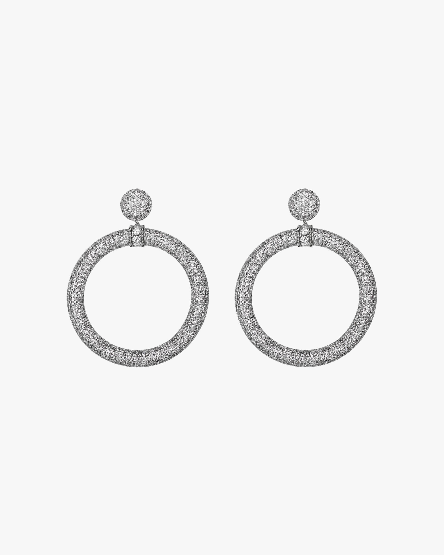 Pavé Drama Hoop Earrings