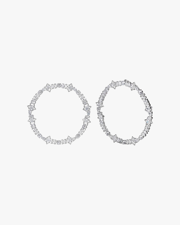 Jagged Edge Cheekbone Hoop Earrings