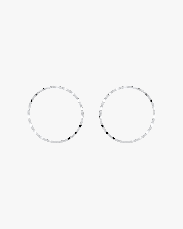 Rippled Cheekbone Hoop Earrings
