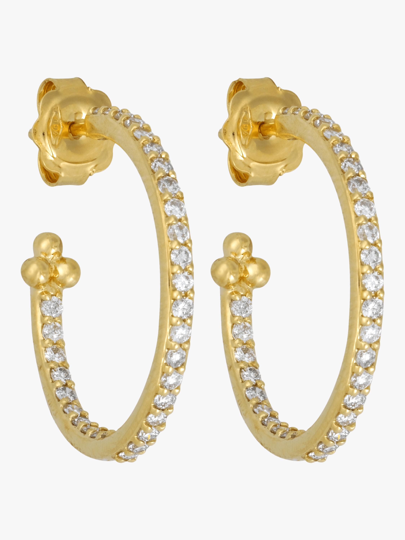 Diamond Pavé Hoop Earrings