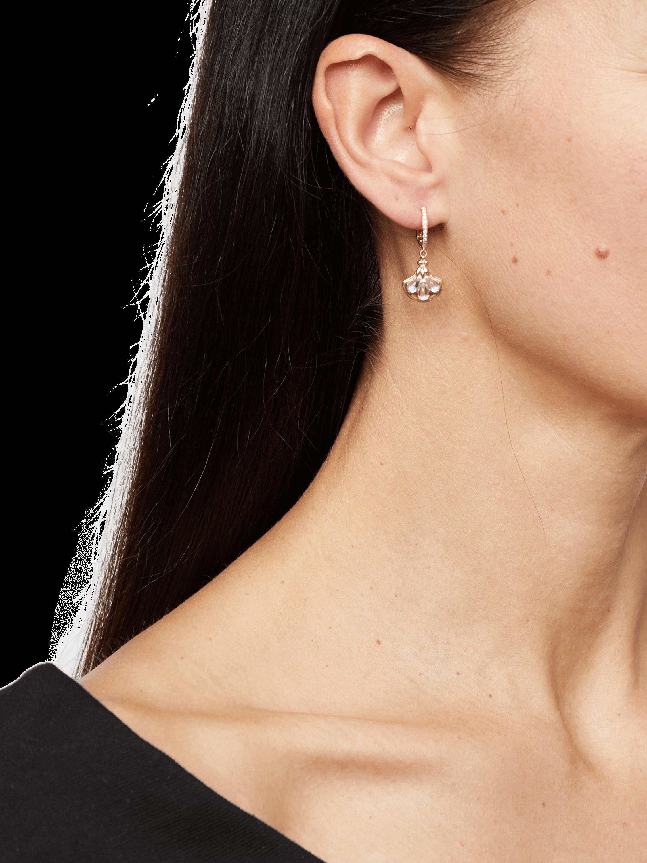 Blue Moonstone Lotus Earrings