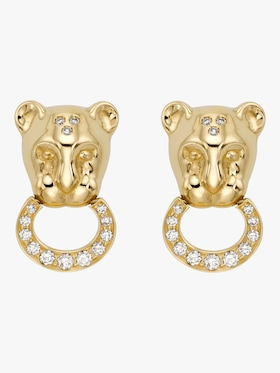 Diamond Pavé Lion Cub Earrings