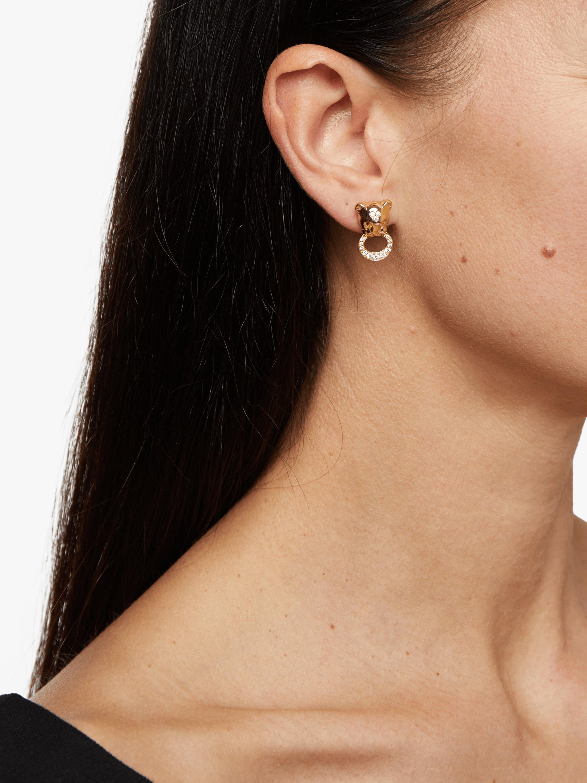 Diamond Pavé Lion Cub Earrings