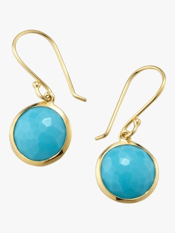Lollipop Turquoise Drop Earrings