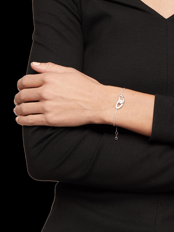 925 Cherish Interlaced Links Bracelet with Diamonds