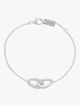 925 Cherish Interlaced Links Bracelet with Diamonds