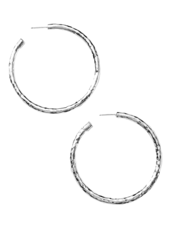Classico Large Hammered Hoop Earrings