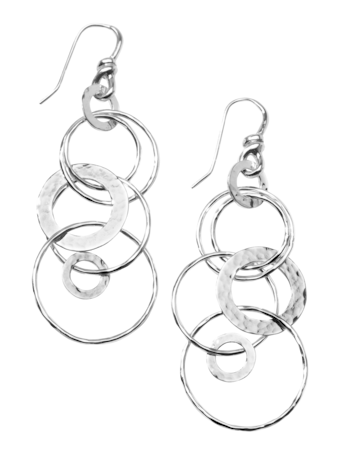 Classico Hammered Jet Set Earrings