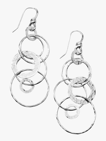 Ippolita Classico Hammered Jet Set Earrings 2