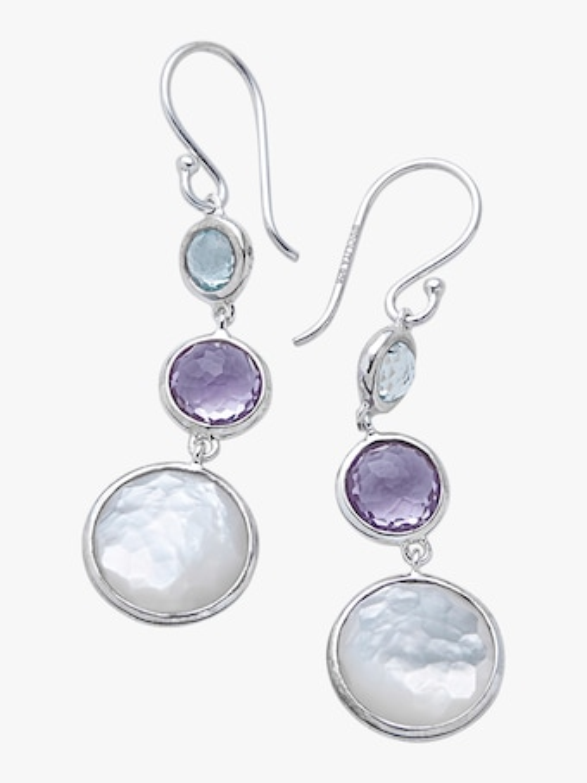 Lollipop Lollitini Three Stone Drop Earrings
