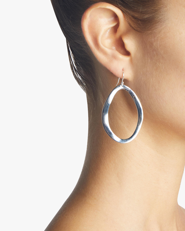Classico Wavy Open Oval Earrings