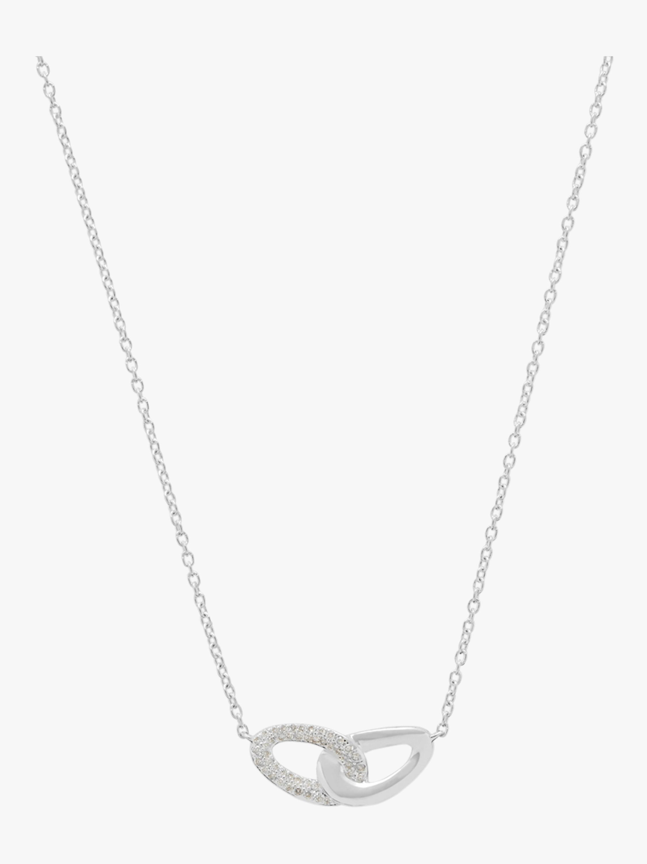Cherish Interlocking Link Necklace with Pavé