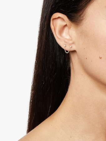 Paris Diamond Chain Stud Earring