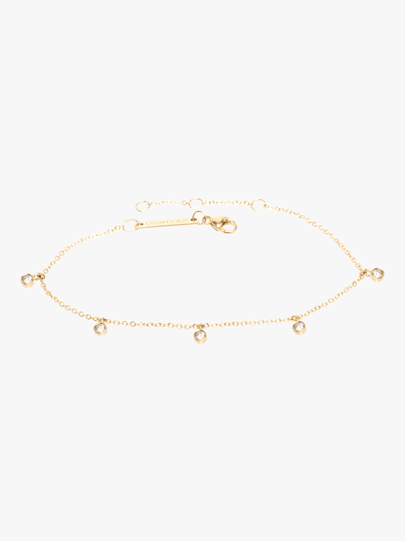 Bezel Diamond Dangle Bracelet