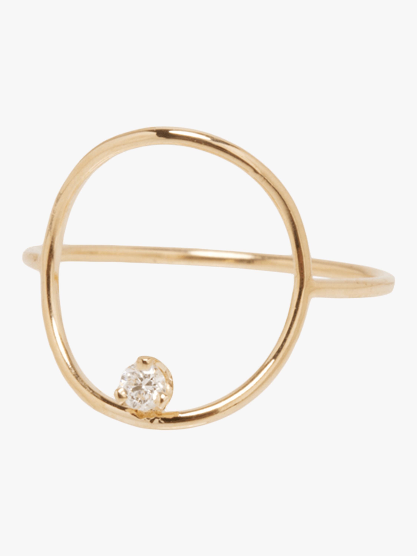 Paris Diamond Circle Ring